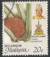Selangor(Malaysia). 1986 Agricultural Products. 20c Used. SG 181 - Malaysia (1964-...)
