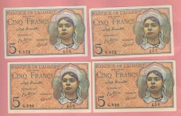 Splendid Billet - 5 Francs Du 02 10 1944 - Pick 94b  QFDS - Algeria