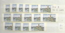2002  MNH Ceska Republika, Automatenmarken, Postfris** - Tchéquie