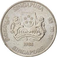 Singapour, 20 Cents, 1988, British Royal Mint, TTB, Copper-nickel, KM:52 - Singapore