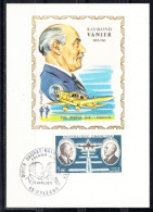 FRANCE 1971,  CARTE MAXIMUM YVERT Nº P.A. 46.RAYMOND VANIER CM.-124 - 1970-79