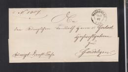 Falthülle 1867 Königliche Regierung Magdeburg - Preussen