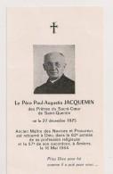 AVIS DE DECES ,,,,1875,,,,, PERE PAUL AUGUSTIN  JACQUEMIN,,,,TBE,,,, - Décès