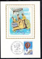 FRANCE 1971,  CARTE MAXIMUM YVERT Nº P.A.45.CENTENAIRE DE  LA POSTE PAR BALLONS MONTÉS    CM.-134 - Cartas Máxima