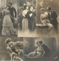 Galanti, Amorose, Fidanzati, Innamorati, 1910/20, 5 Cartoline Differenti, Edizione Fotocelere, Torino. - Couples