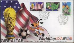 Gibraltar, World Cup 1994, Set FDC. - Coupe Du Monde
