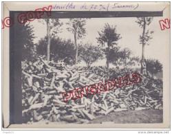 Au Plus Rapide Guerre 1914-1918 Beau Format Excellent état Photo Douilles De 75 Mm - 1914-18