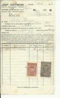 CROATIA  -   ZAGREB  --  JOSIP HOFFMANN ( JOSEF )  --  JEWISH STORE --  FACTURE - 1934  -  WITH TAX STAMP, TIMBRE FISCAL - Rechnungen