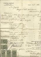 CROATIA  -   ZAGREB  --  STJEPAN KASTELIC --  FACTURE - 1940  -  WITH TAX STAMP - Rechnungen
