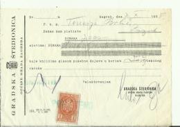 CROATIA  -   ZAGREB  --  GRADSKA STEDIONICA   --   4 X FACTURE - 1938  -  WITH TAX STAMP - Rechnungen