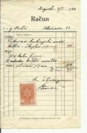 CROATIA  -   ZAGREB  --   FACTURE - 1940  -  WITH TAX STAMP - Rechnungen