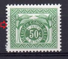 Congo - Cob TX78/TX84 - Variété Sur Le 50c. Vert Points Dans La Marge Gauche - Neuf Avec Charnière LH - Y - Congo Belge