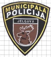 Ecusson / Patch / Toppa / Parche. EU. Police. City Jelgava. Latvia. - Police