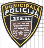 Ecusson / Patch / Toppa / Parche. EU. Police. City Sigulda. Latvia. - Police & Gendarmerie