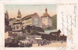 Germany Gruss Aus Karlsbad Marktbrunnen 1906