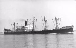 """¤¤   -   Carte-photo Du Cargo """" SILVANA """" En 1944   - Bateau De Commerce   -  ¤¤ - Pétroliers"""