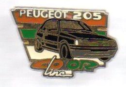VT108  Pin´s PEUGEOT 205 Line Signé Helium Achat Immediat - Peugeot