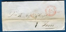 Espagne- Lettre Avec Texte De Santander Pour Paris En 1849      à Voir 3 Scans   Réf. 863 - Spain