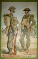 Armée Britannique - Infanterie - Tenue De Guerre - Belle Carte Aux Coloris Illustrée Par Maurice TOUSSAINT - Comme Neuve - Uniformes