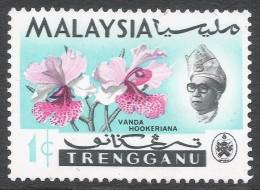 Trengganu (Malaysia). 1965 Orchids. 1c MH. SG 100 - Malaysia (1964-...)