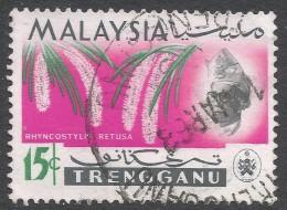 Trengganu (Malaysia). 1965 Orchids. 15c Used. SG 105 - Malaysia (1964-...)
