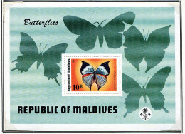 (cl.38 - P.27) Maldives ** Bloc N° 32 - Papillons - - Butterflies