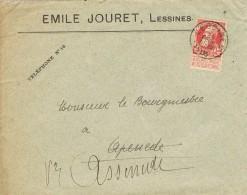 17910. Carta Comercial LESSINES )Belgien) 1905. Jouret Societe Des Carrieres - 1905 Grosse Barbe