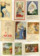 - LOT DE 18 IMAGES RELIGIEUSES . DESSINEES . - Andachtsbilder