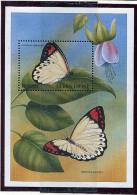 (cl.38 - P.38) Sierra Leone ** Bloc N° 367 - Papillons Et Fleurs - - Butterflies