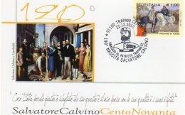 TRAPANI - 2010 - 190° Nascita Salvatore Calvino - Patriota Trapanese - - Geschichte