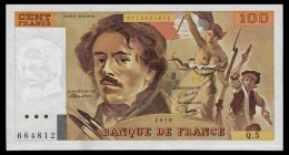 France 100 Francs 1978 UNC - 100 F 1978-1995 ''Delacroix''
