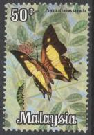 Malaysia. 1970 Butterflies. 50c Used. SG 66 - Malaysia (1964-...)