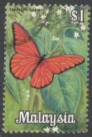 Malaysia. 1970 Butterflies. $1 Used. SG 68 - Malaysia (1964-...)