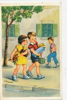 """ENFANTS - Jolie Carte Fantaisie Enfants Avec Cadeaux De """"Bonne Fête"""" Signée LAGARDE - JLP 285/4 - Dessins D'enfants"""