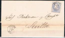 1.870 .-  MÓGUER A SEVILLA - 1868-70 Gobierno Provisional