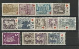 FINLANDE - YVERT N° 170/182 ** - COTE = 39 EURO - CROIX-ROUGE