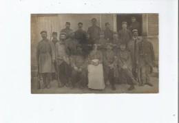 NANCOIS LE PETIT (NANCOIS SUR ORNAIN MEUSE) CARTE PHOTO AVEC MILITAIRES 1915 - France