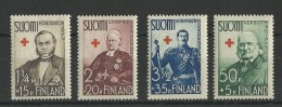 FINLANDE - YVERT N° 196/199 ** - COTE = 23.4 EURO - CROIX-ROUGE - Finlande
