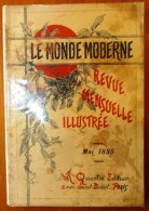 Revue Mensuelle Illustrée , Mai 1895 , LE MONDE MODERNE , N° 5 Vol. I , Frais France : 3.95€ - Revistas - Antes 1900