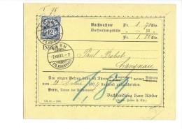 14502 -  Nachnahme  Buchhandlung Hans Körber Pour Langnau 02.08.1907 - Suisse
