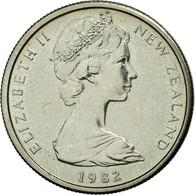 Monnaie, Nouvelle-Zélande, Elizabeth II, 5 Cents, 1982, TTB+, Copper-nickel - Nouvelle-Zélande