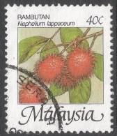 Malaysia. 1986 Fruits Of Malaysia. 40c Used. SG 344 - Malaysia (1964-...)