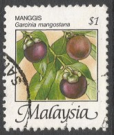 Malaysia. 1986 Fruits Of Malaysia. $1 Used. SG 347 - Malaysia (1964-...)