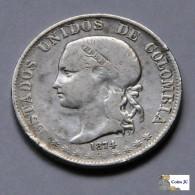 Colombia - 2 Décimos - 1874 - Kolumbien