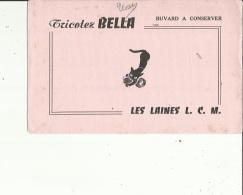 Buvard G F_22x14 -Tricotez BELLA - Les Laines L C M - Wassen En Poetsen