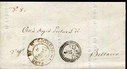 8668 Italia,cover Parrocchiale, Parish Circuled 1860 Showing The Postmark Of Parish St.georg Of Varenna Per Bellano Como - Italia