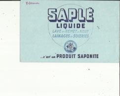 Buvard G F_21x13 -Produit SAPONITE...SAPLE...Liquide-Lave Et Remet A Neuf Lainages Et Soiries - Wassen En Poetsen