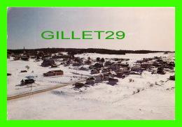 ST-MALO, CTÉ COMPTON, , QUÉBEC - VUE AÉRIENNE DU VILLAGE EN HIVER - CIRCULÉE EN 1987 - METROLITHO INC - - Quebec