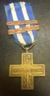 Medaglia  Croce Al Merito Di Guerra    3/5/16 - Italia