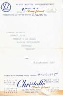Menu Du 01/09/1964 SNCF Paris-Tourcoing - CHRISTOFLE - Menus